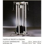 STATION BICEPS TRICEPS 4 POSTES TECHNOGYM ISOTONIC OCCASION