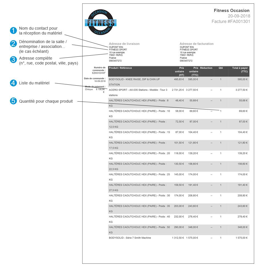 Exemple de facture